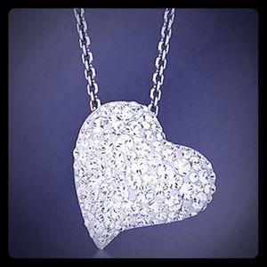 NWT Swarovski Clear Crystal Silver Alana Pendant